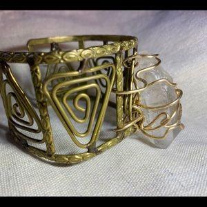 UpCycled brass Cuff bracelet.